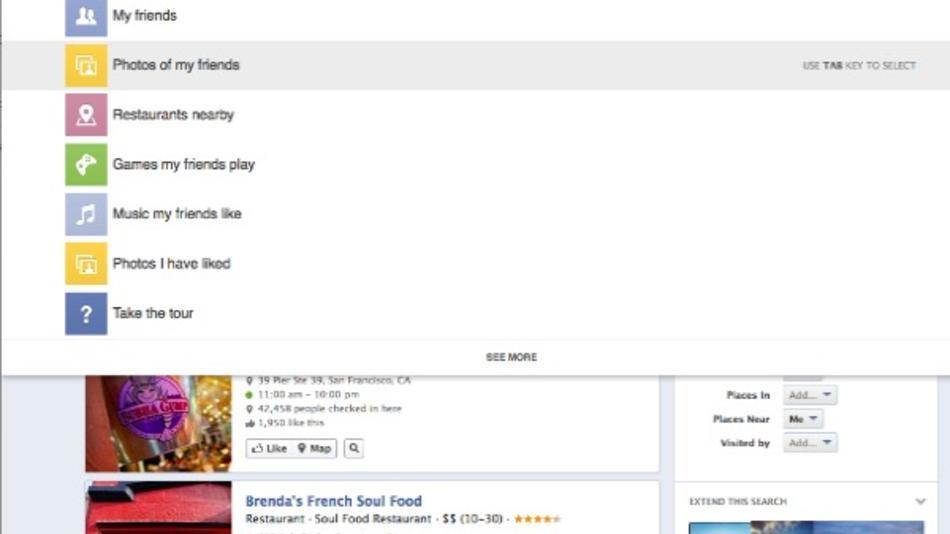 facebook estrena buscador grafico facebook login. Black Bedroom Furniture Sets. Home Design Ideas