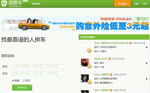 Wodache la red social para evitar el trafico en China