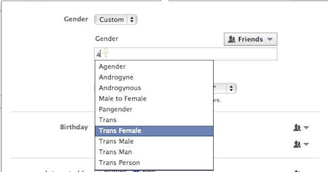 Facebook amplia opciones para definir sexo