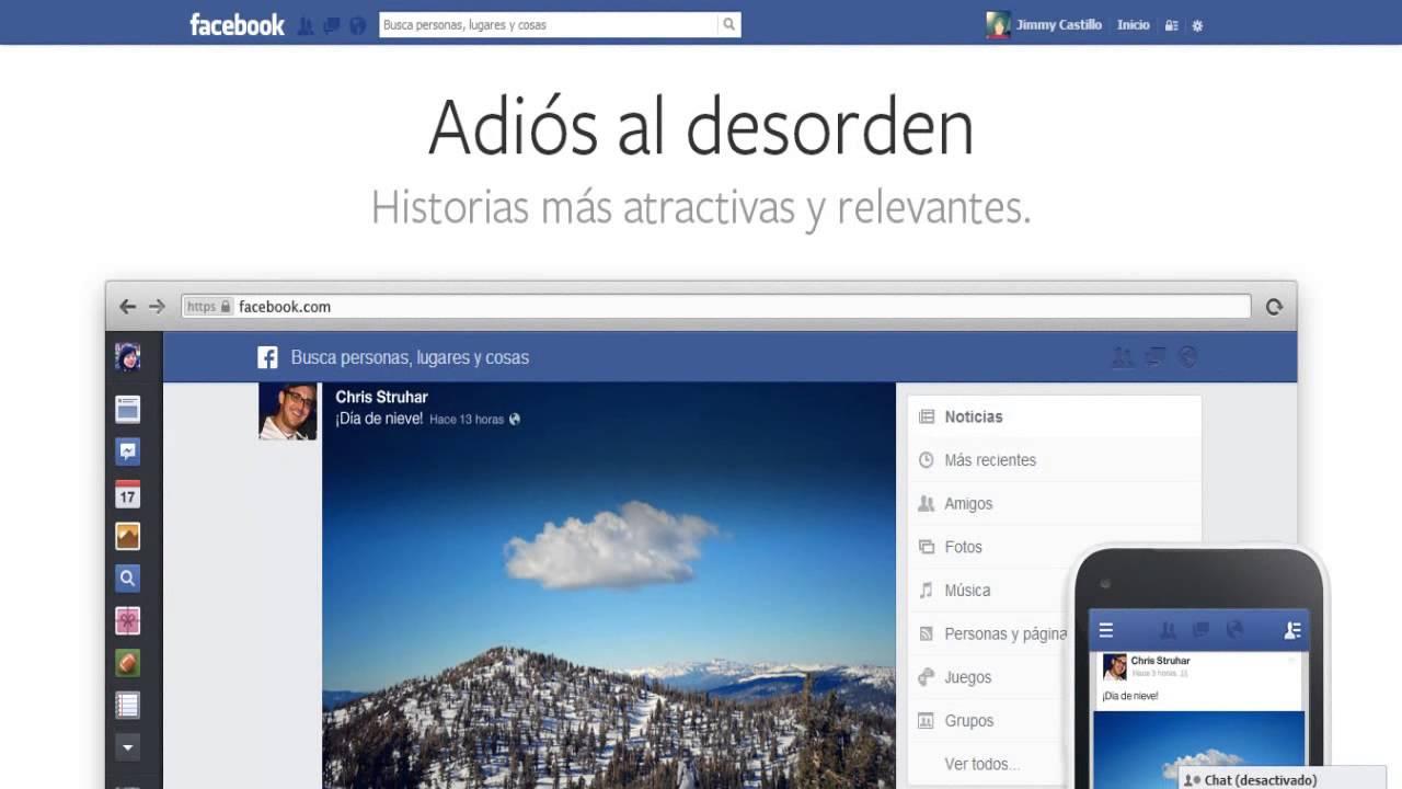 Facebook se actualiza en su interfaz