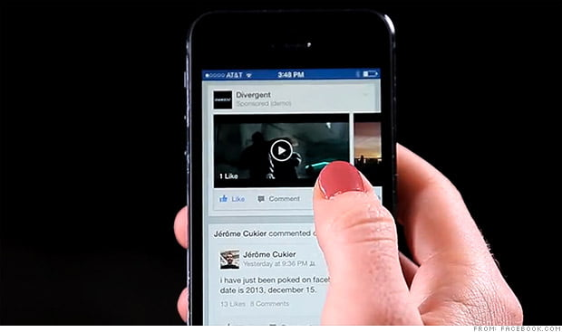 Facebook cobraria 1 millon por videos publicitarios