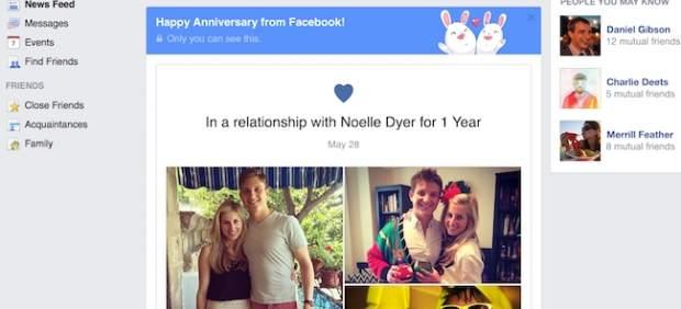 Facebook presenta funcion para enamorados
